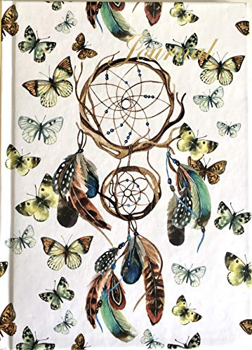 Quaderno A5 con copertina rigida Dream Catcher con dettagli in lamina d'oro e finitura lucida.