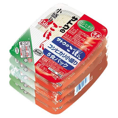 サトウ食品 サトウのごはん コシヒカリ 小盛り 5食パック 150g×5食×12個入