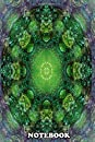 "Notebook: Multilayered Digital Mandala Design In Tones Of Green , Journal for Writing, College Ruled Size 6"" x 9"", 110 Pages"