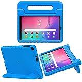 MoKo Funda Compatible con Samsung Galaxy Tab A 10.1 2019, Ligero y Delgado Protector a Prueba de Los Golpes con Asa Portátil para Niña Cover Case para Galaxy Tab A 10.1' SM-T510/SM-T515 2019 - Azul