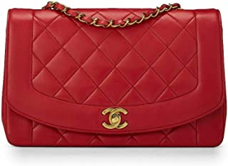 a54daa80ab CHANEL Red Quilted Lambskin Diana Flap Medium (Pre-Owned)