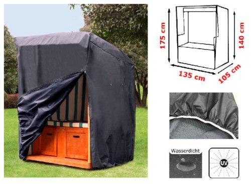 Kronenburg Schutzhülle Strandkorb aus 420 D Oxford Gewebe - Abdeckung für Gartenmöbel - 2
