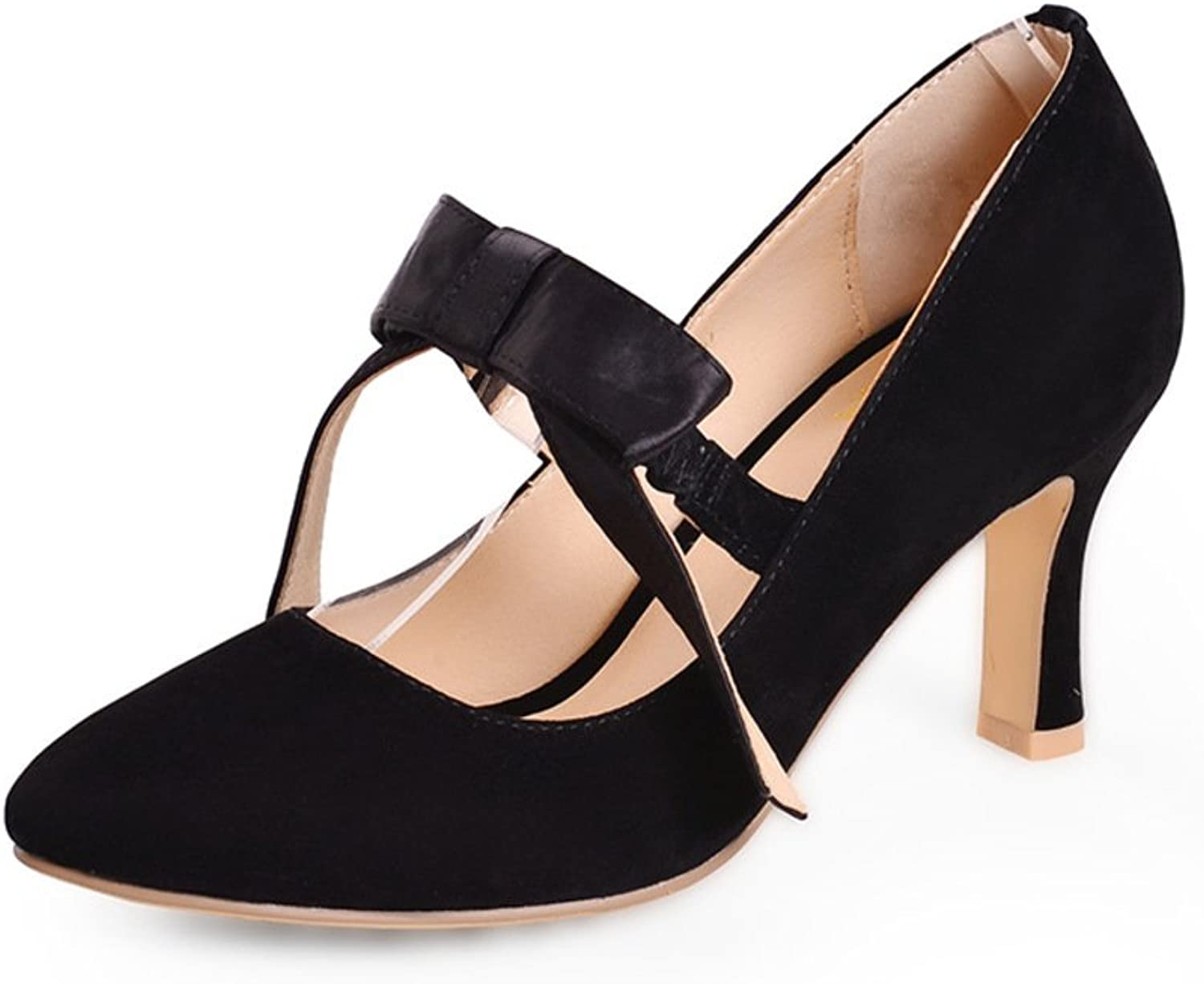 WLJSLLZYQ Fashion high Heel shoes Fine with a Sweet Bow shoes in Spring