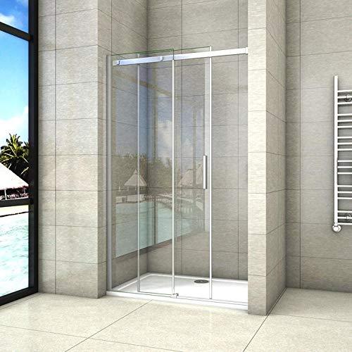 100x195cm Mamparas de ducha puerta de ducha 6mm vidrio templado de Aica: Amazon.es: Bricolaje y herramientas