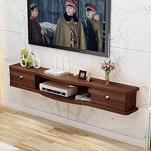 Mobile Porta TV Sospeso, Mobile TV Pensile opaco, Scaffale multimediale in legno Unità di intrattenimento per montaggio a parete/F / 120cm