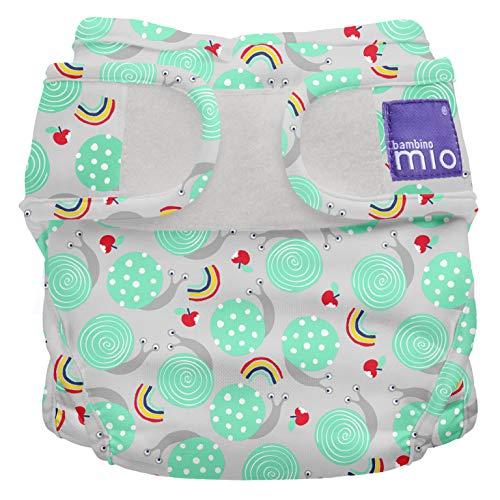 Bambino Mio, Mioduo Cobertor de Pañal, Caracol Travieso, Talla 1 (<9 kg)