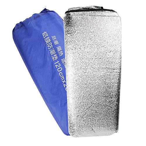Trendyest Pique-Nique Tapis étanche 1.2 x 2 m étanche en Feuille d'aluminium EVA Tapis de Pique-Nique Plage Camping Pad