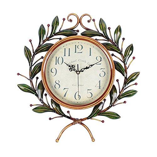 UDFCVIbdceruibcbgcw Elektronische Uhr_Wanduhr große Stille Uhren Haus Garten retro kreative Persönlichkeit elektronische