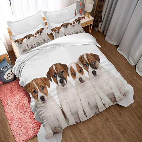 GSYHZL Queen King Size Bed Duvet Cover Set,3D boy king bed bedding set, girl apartment printed duvet cover and pillowcase-B_180*220cm(3pcs)