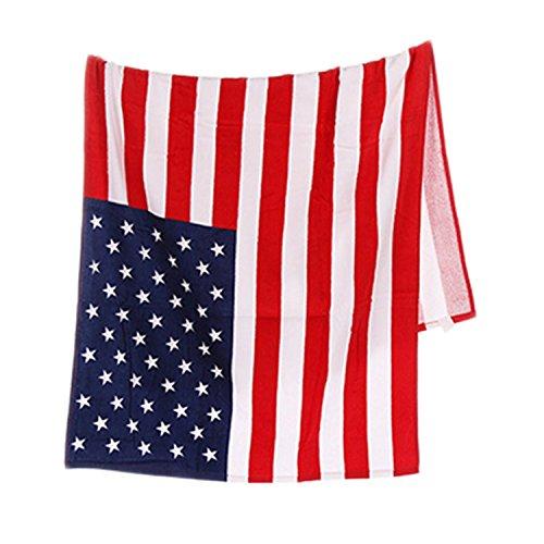 Toalla para playa o baño con diseño de la bandera de Estados Unidos, se puede lavar a máquina, muy absorbente