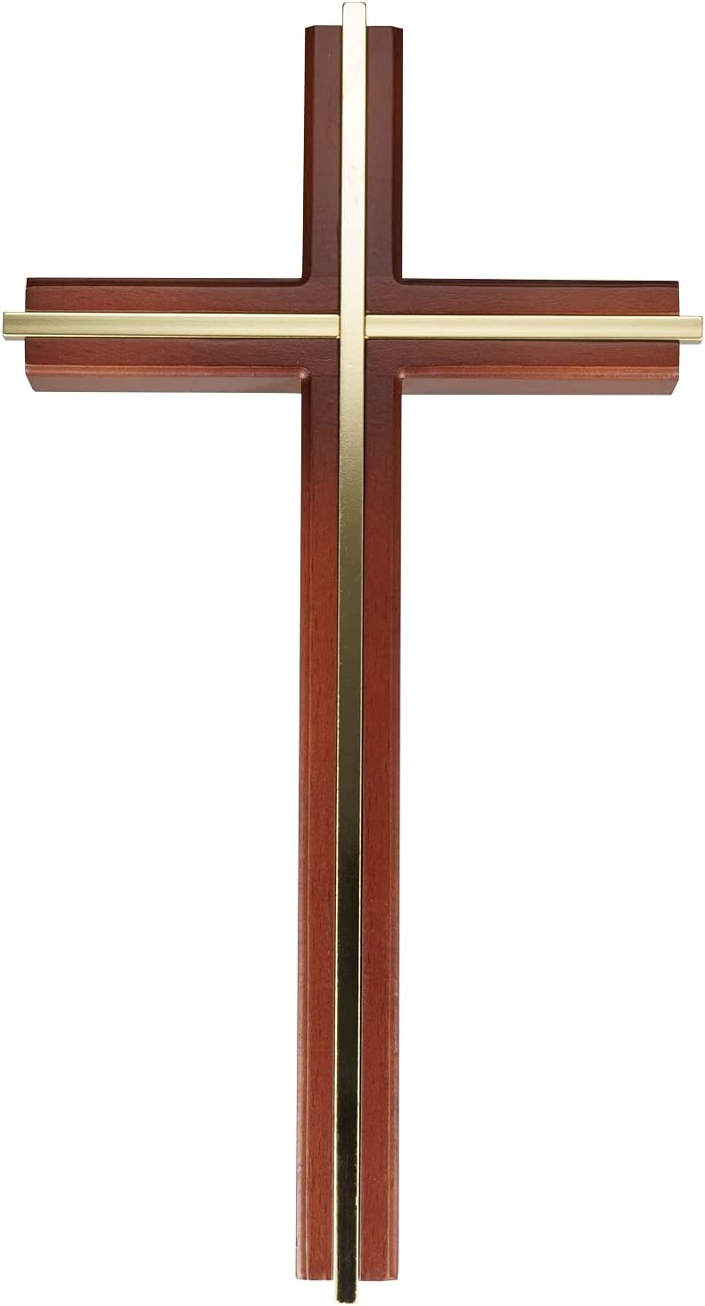 ACHIBANG Wall Cross, Catholic Wooden Hanging Crosses for Wall Decor, 10 Inch