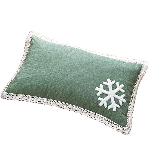 WXF Almohada de Bebe Núcleo de Almohada de Estilo japonés, Almohada de Trigo sarraceno Premium 100% Natural, Reutilizable para Almohada Cool Sleep, 1250 g, 50 × 30 cm (Color : Green)