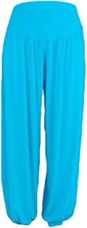WWricotta Women's Soft Stretch Wide Leg Palazzo Trousers Wide Hoserock Harem Trousers Yoga Trousers Hippie Trousers Long Trousers Wide Leg