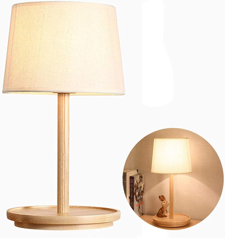 Ruitx Led Holz nachttischlampe einfache Schreibtisch licht kreative mit e27 Moderne Lampe bequem für Schlafzimmer, Wohnzimmer büro