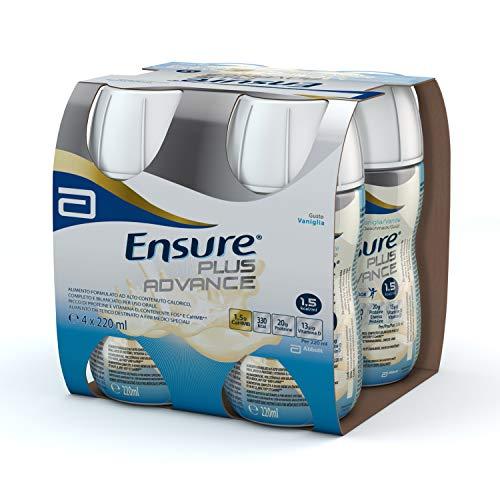 Ensure Plus Advance Supplemento Alimentare Formato Bevanda | Confezione 4x220ml | Gusto Vaniglia