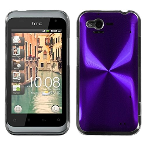MYBAT HTCADR6330HPCBKCO006NP Premium Metallic Cosmo Case for HTC Rhyme ADR6330-1 Pack - Retail Packaging - Purple