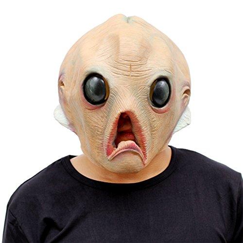 CreepyParty Alien Maske Halloween Kostüm Party Latex Kopfmasken Außerirdisch Außerirdischer Karneval Masken
