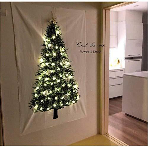 BYFRI Weihnachtsbaum Teppich, Wandbehang Tapisserie, Weihnachten Tapestry Kiefer Wall Art Für Schlafzimmer Dorm Outdoor Decor