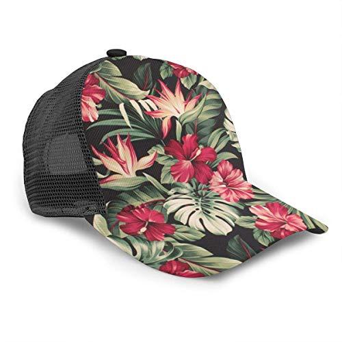 iuitt7rtree - Gorra de béisbol de algodón tropical con visera ajustable para hombres y mujeres