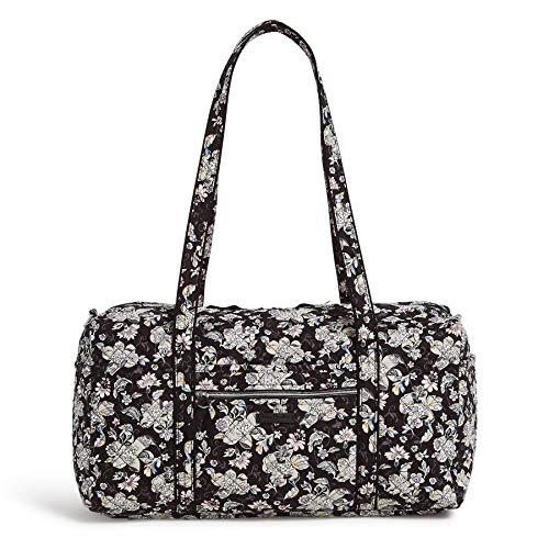 Vera Bradley Women's Signature Cotton Medium Travel Duffel Travel Bag, Holland Garden, One Size