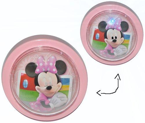 alles-meine.de GmbH 1 STK. Nachtlicht Disney Minnie Mouse / magisches Licht LED Schlummerlicht mit Schalter - Nachtlampe Lampe für Kinder mit Batterie Mickey Maus
