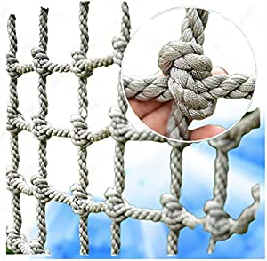 Cargo Climbing Net outdoor Cargo Fixed Rope Nylon Netting Mesh Giant Duty Heavy Deck Nets the Older Kids Adult Playground Tree Climbing Swing Chair Netting for Racecourse Fence Decoration Railing Net