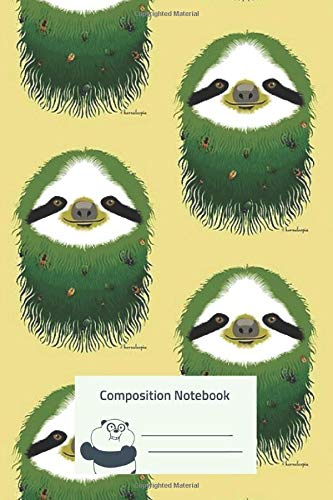 Composition Notebook: Sloth Buggy Green Composition Notebook for Creative Lettering or Note taking