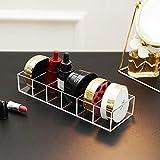 ROWNYEON Organizador de maquillaje de acrílico, 6 organizadores de maquillaje compactos transparentes para almacenamiento de maquillaje con separadores extraíbles
