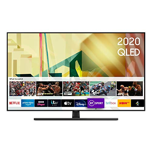 "Samsung 2020 55"" Q70T QLED 4K Quantum HDR Smart TV with Tizen OS Black"