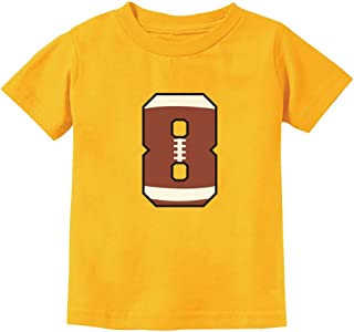 Gift for 8 Year Old Boy 8th Birthday Football Youth Kids T-Shirt