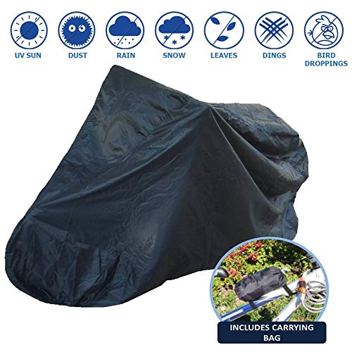 Formosa Covers Bike Storage Cover for Outdoor and Indoor Bicycle Includes Carrying Bag - Black