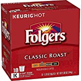 Folgers Classic Roast Coffee, Medium Roast Coffee, K Cup Pods for Keurig Coffee Makers, 72 Count, 18 Count (Pack of 4)