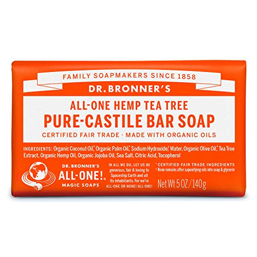 Dr. Bronner's Magic Soaps, Savon de Castille pur, Arbre de thé Tout-Un chanvre, 5 oz (140 g)