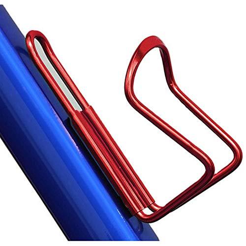 luty fietsflessenhouder van hoogwaardig aluminium, voor mountainbikes, fietsen, waterkokerhouder, ideaal voor fietsen, pendelen of voor andere outdoor-activiteiten - rood