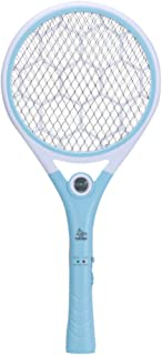Chlry Recargable Mata Mosquitos Matamoscas Raqueta electrico, con Enchufe Oculto y Luces LED, Evitar el diseño de Choque eléctrico, Seguro, antimosquitos Bug Zapper