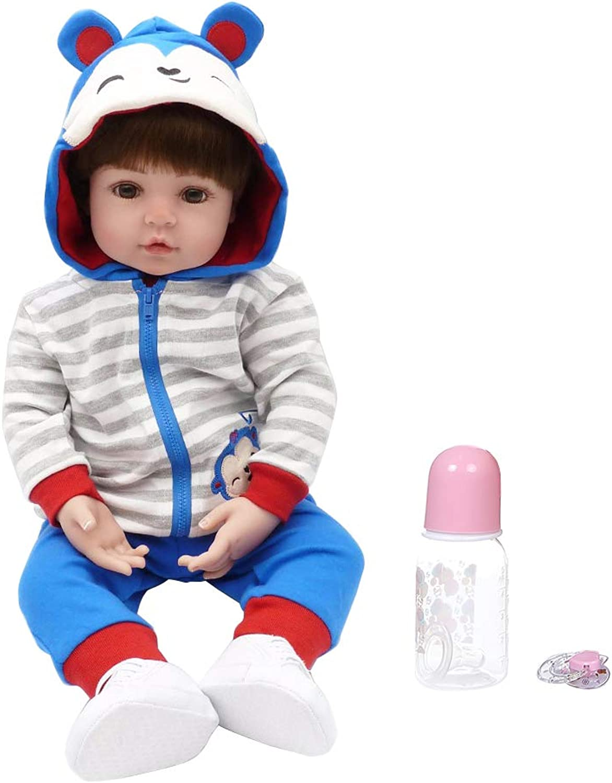 Realistische Reborn-Puppe für Neugeborene, 61 cm, weiches Silikon, Vinyl, lebensechte Handarbeit, Spielzeug für Kinder, Weihnachts- und Geburtstagsgeschenk