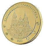 cARTEm. Moneda bañada en Oro de 24 Quilates. Camino de Santiago 2021. Santiago de Compostela. Moneda Conmemorativa Año...
