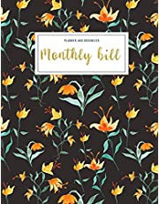 Monthly Bill Planner and Organizer: budget tracking journal | 3 Year Calendar 2020-2022 Budgeting Planer with income list,Weekly expense tracker ,Bill ... Flower Design (Financial Planner Budget Book)