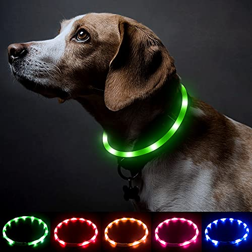 BSEEN Silicone LED Dog Collar - USB Rechargeable