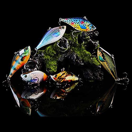 ZYHWX 63mm Capa de natación Completa Lure VIB / 14G señuelos de señuelo, Regalo de Pesca de los Hombres/plástico de señuelos Duros/Ropa de natación robótica/Gancho de Pesca bajo señuelo ZYHWX