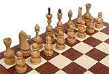 ChessEbook DEBIUT - Ajedrez de Madera, Tablero de 50 x 50 cm