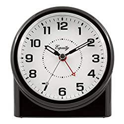 Equity by La Crosse 14080 Analog Night Vision Alarm Clock, Pack of 1, Black