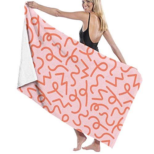 QUEMIN Patrón de símbolo Naranja Toalla de Playa Toallas absorbentes Traje de baño Toalla de baño y Ducha Manta de Playa 32 x 52 Pulgadas / 80 x 130 cm