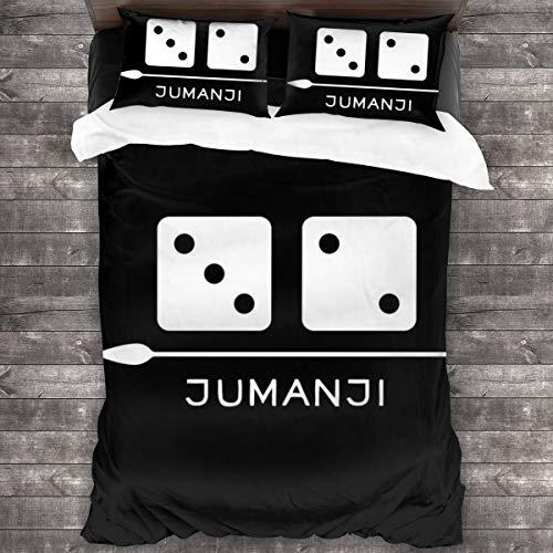 KUKHKU Jumanji - Juego de cama de 3 piezas, funda de edredón de 86 x 70 pulgadas, decoración de 3 piezas con 2 fundas de almohada