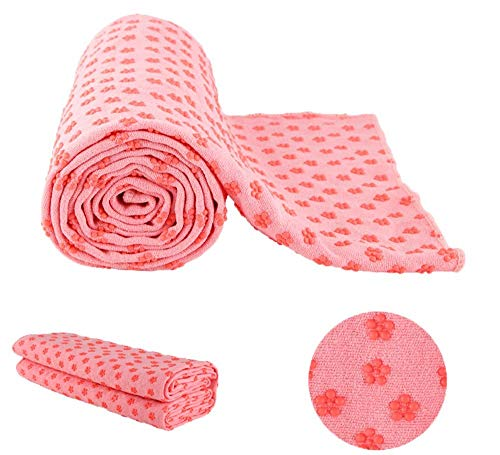 MaxYoga yoga towel rosa (183 x 61 x 0,6 cm)