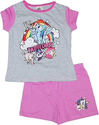 GetWivvit Mädchen My Little Pony MLP Super Star Fabulous! Sommer Kurze Pyjama Größen Von 4 Sich 10 Jahre - Multi, 4-5 Years