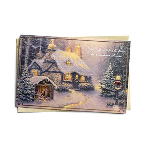 DaySpring Thomas Kinkade - Blessing Stone - 18 Christmas Boxed Cards