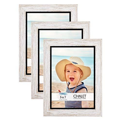 Molduras Icona Bay 12 x 18 cm (cinza claro, pacote com 3), molduras de foto estilo casual 12 x 17 cm, suporte de mesa ou de parede, coleção chalé