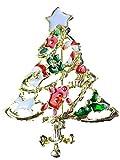 Star Brosche/Anstecknadel/Pin Weihnachten Weihnachtsschmuck Heilig Abend Tanne Baum Weihnachtsbaum B193