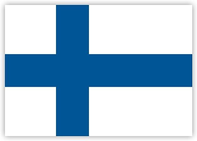 Householdbasics 10 X Aufkleber Finnland Flagge 7 4 X 5 2 Cm Für Innen Und Außen Auto